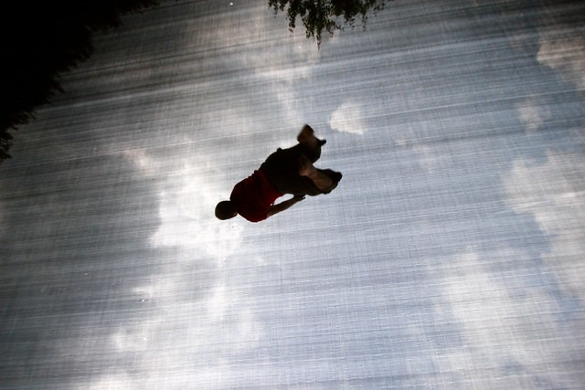 person doing high flip